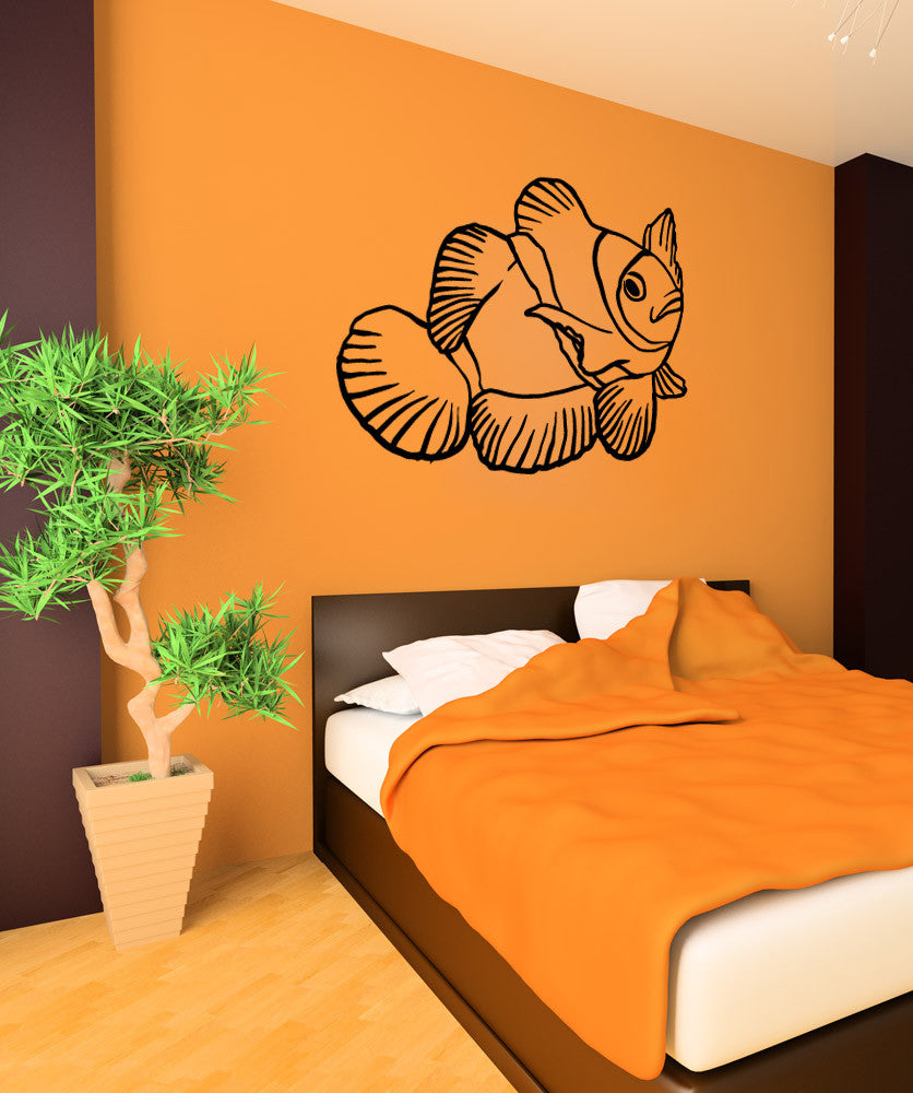 Vinyl Wall Decal Sticker Clown Fish #OS_MB659