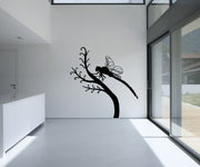 Vinyl Wall Decal Sticker Dragonfly on Branch #OS_MB695