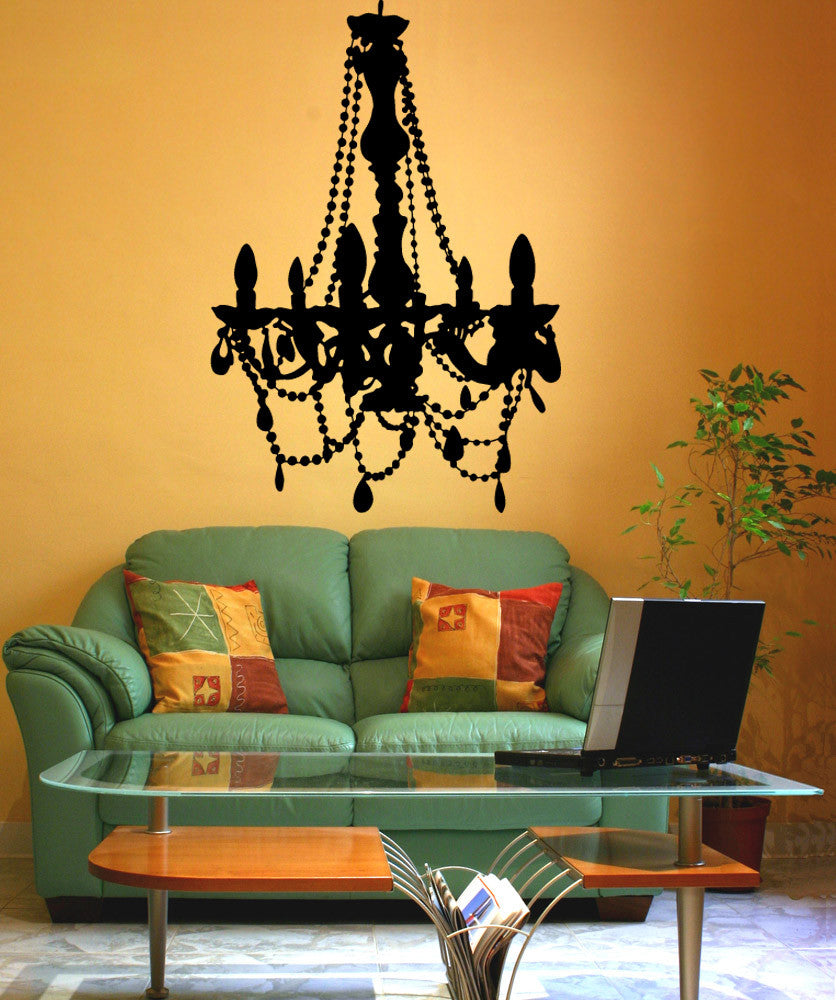 Vinyl Wall Decal Sticker Crystal Chandelier #OS_MB706