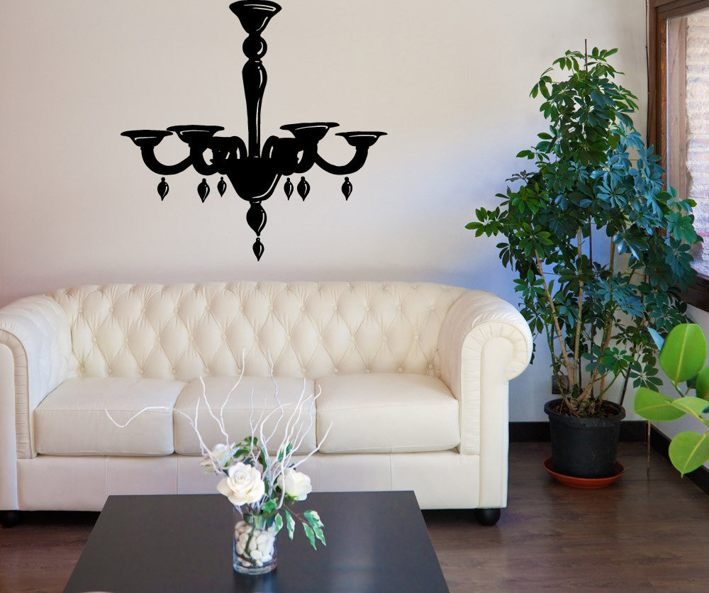 & Vinyl Wall Decal Sticker Pretty Chandelier #OS_MB708