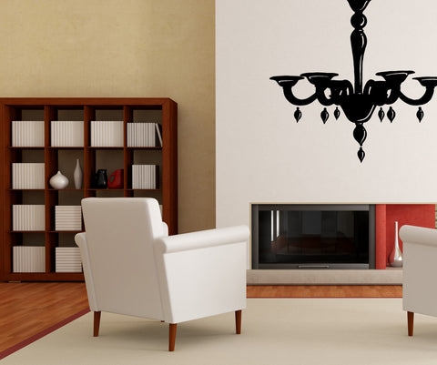Vinyl Wall Decal Sticker Pretty Chandelier #OS_MB708