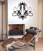 Vinyl Wall Decal Sticker Fancy Candle Holder #OS_MB709