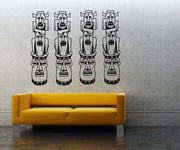 Totem Poles Wall Decal. (Set of Four) #OS_MB716