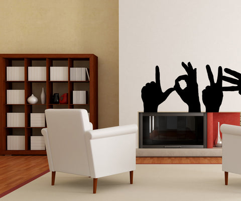 Vinyl Wall Decal Sticker Love Sign #OS_MB721