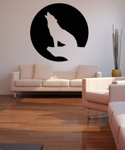 Vinyl Wall Decal Sticker Howl at the Moon #OS_MB736