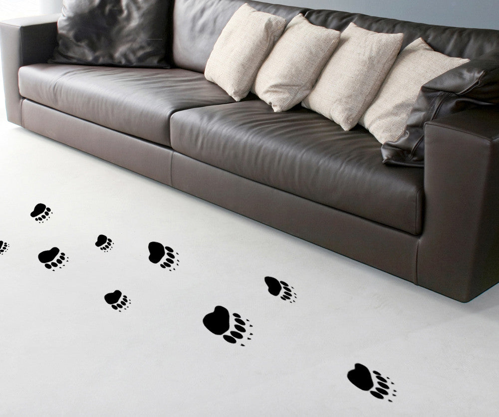Vinyl Wall Decal Sticker Bear Prints #OS_MB739