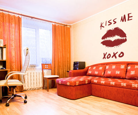 Vinyl Wall Decal Sticker Kiss Me #OS_MB741