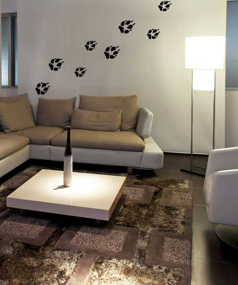 Vinyl Wall Decal Sticker Paw Print Tracks #OS_MB742