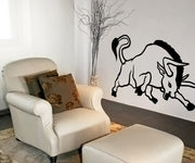Vinyl Wall Decal Sticker Angry Bull #OS_MB747