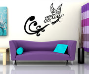Vinyl Wall Decal Sticker Flying Butterfly #OS_MB749