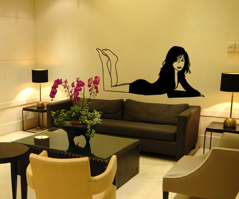 Exotic Woman Come Hither Vinyl Wall Decal Sticker. #OS_MB759