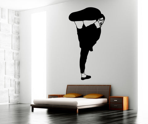 Vinyl Wall Decal Sticker Martial Arts Kick #OS_MB777