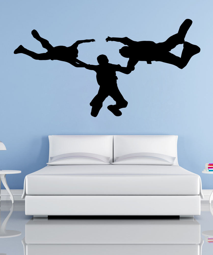 Vinyl Wall Decal Sticker Sky Diving Team #OS_MB778