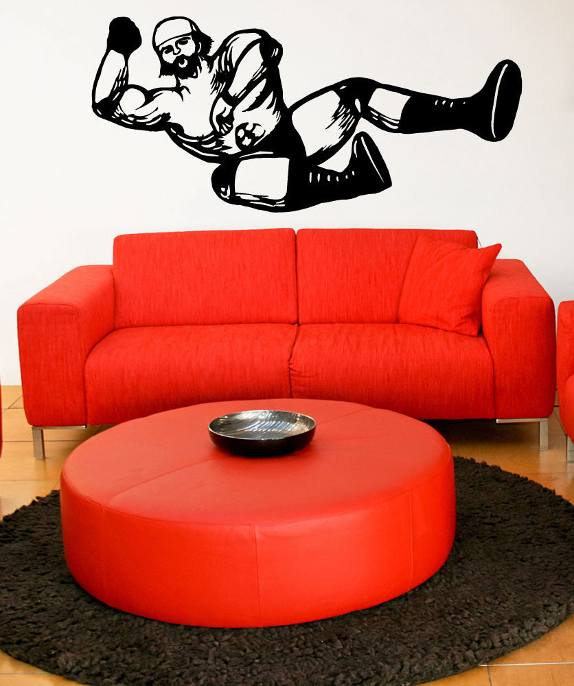Vinyl Wall Decal Sticker Wrestler #OS_MB780