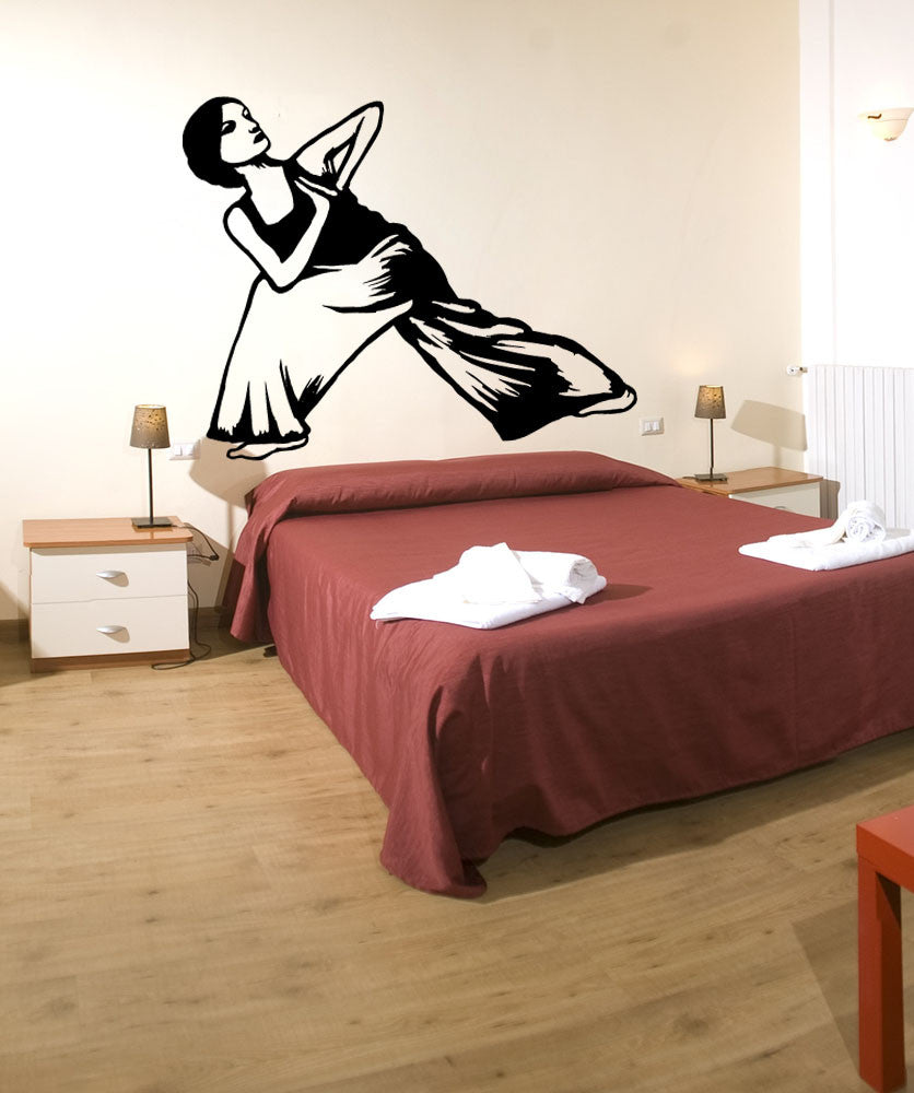 Vinyl Wall Decal Sticker Yoga Stretch #OS_MB798