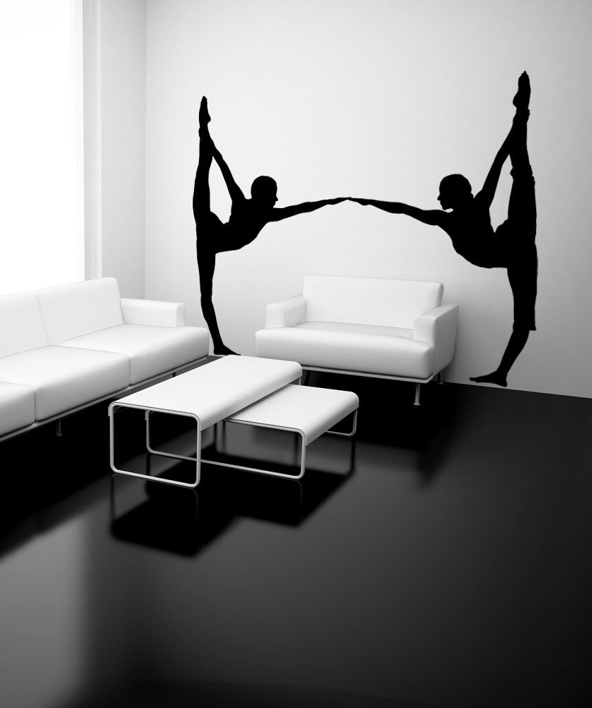 Vinyl Wall Decal Sticker Yoga Partners #OS_MB799