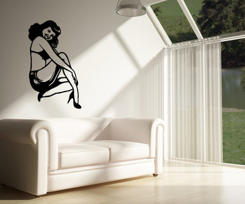 Vinyl Wall Decal Sticker Vintage Pin-Up Girl #OS_MB817