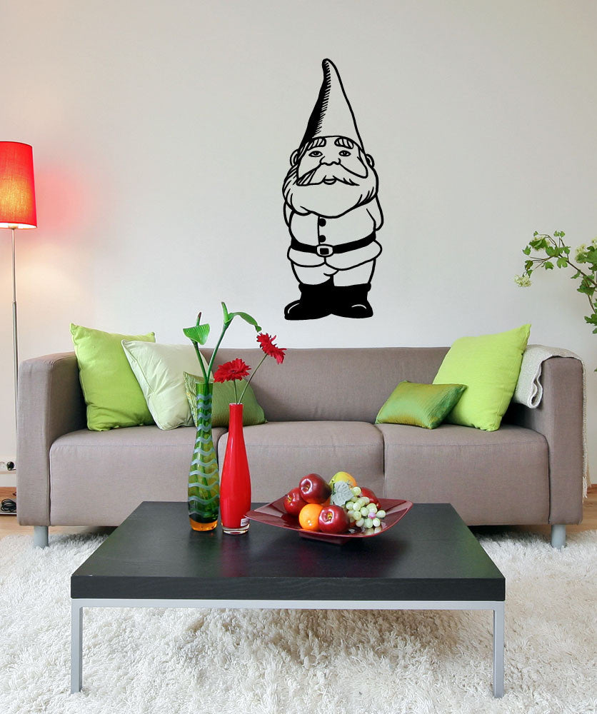Vinyl Wall Decal Sticker Gnome #OS_MB852