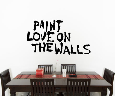 Vinyl Wall Decal Sticker Paint Love on the Walls #OS_MB855