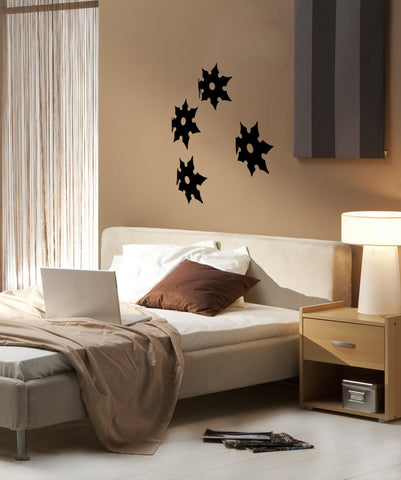 Vinyl Wall Decal Sticker Ninja Stars #OS_MB858