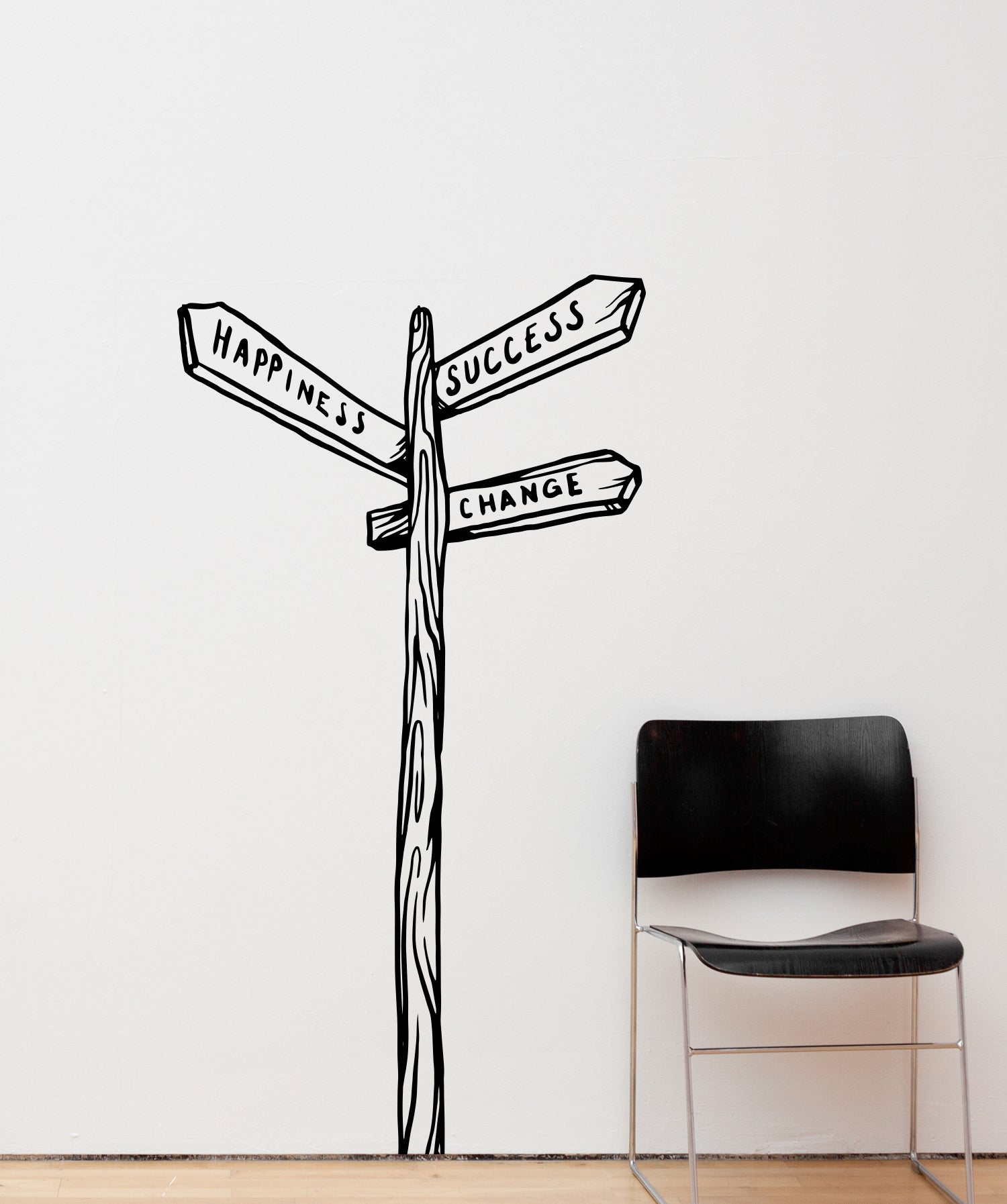 Vinyl Wall Decal Sticker Paths of Life Sign #OS_MB862