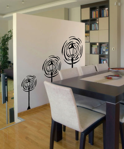 Vinyl Wall Decal Sticker Three Lamp Posts #OS_MB863