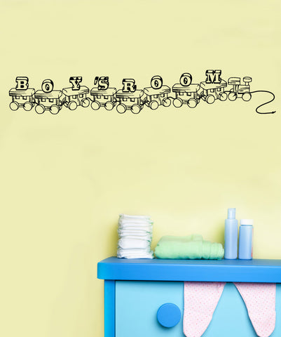 Vinyl Wall Decal Sticker Boys Room Train #OS_MB866