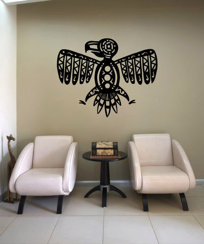 Vinyl Wall Decal Sticker Tribal Eagle #OS_MB883