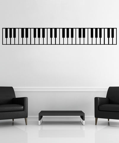 Piano Keys Wall Decal Sticker. Musical Instrument Decor. #OS_MB887