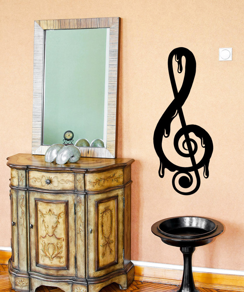 Vinyl Wall Decal Sticker Drip Music Note #OS_MB925