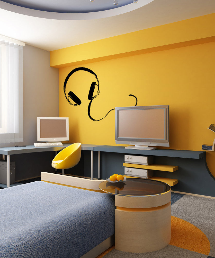 Vinyl Wall Decal Sticker Headphones #OS_MB927