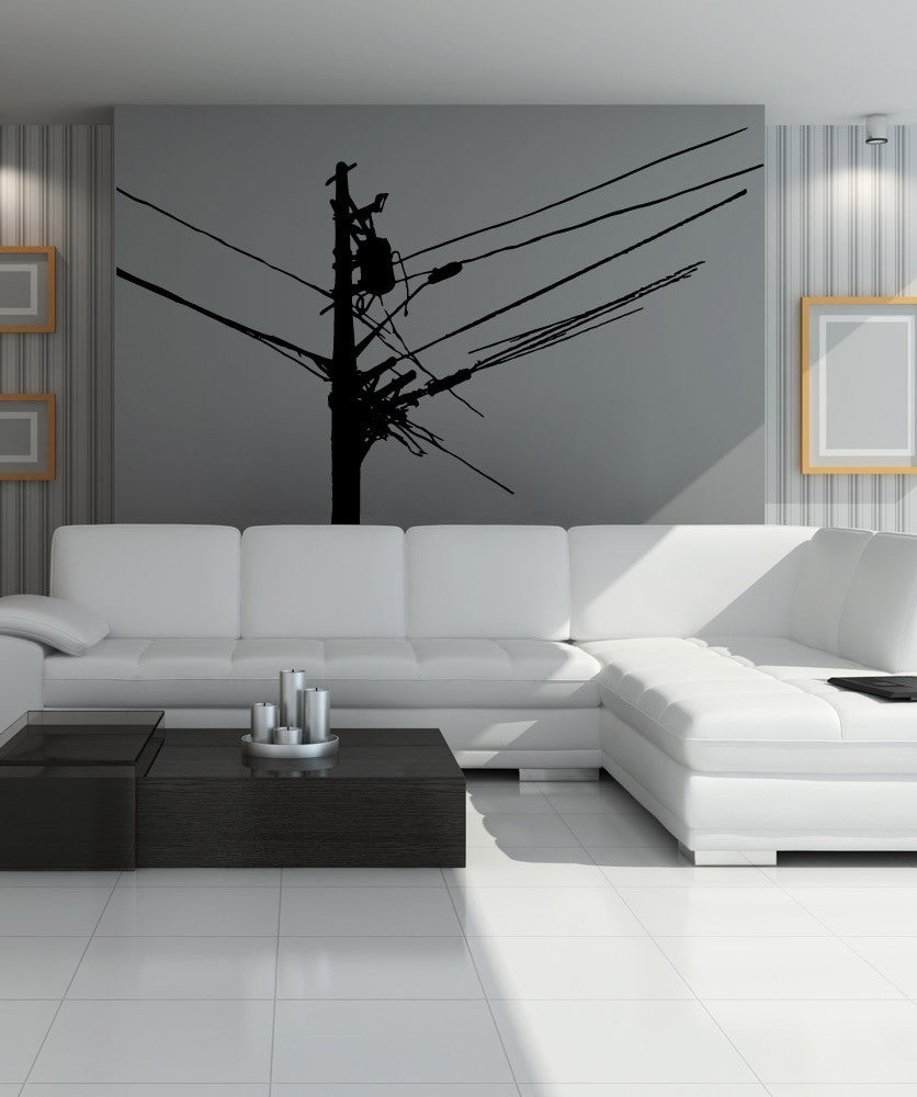 Vinyl Wall Decal Sticker Power Lines #OS_MB930