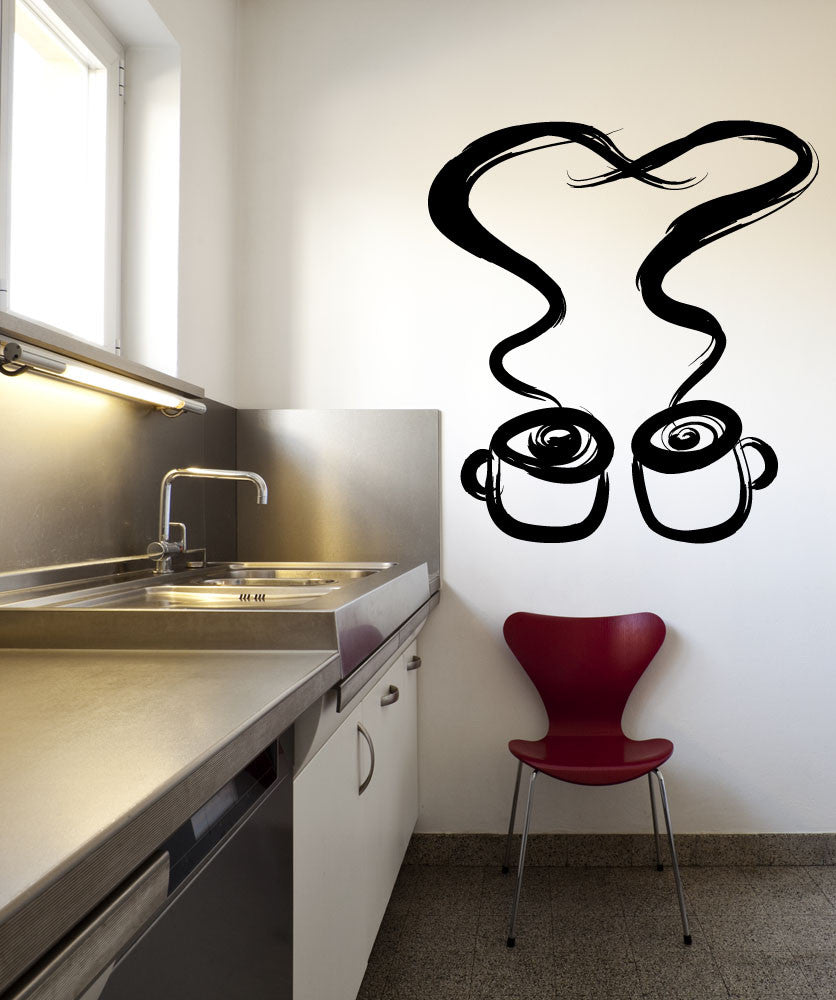 Vinyl Wall Decal Sticker Tea for Two #OS_MB963