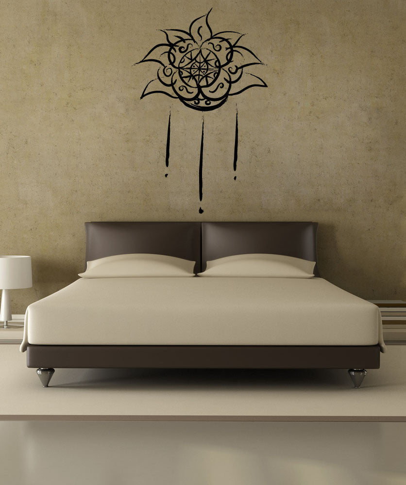 Vinyl Wall Decal Sticker Aztec Flower Art #OS_MB967