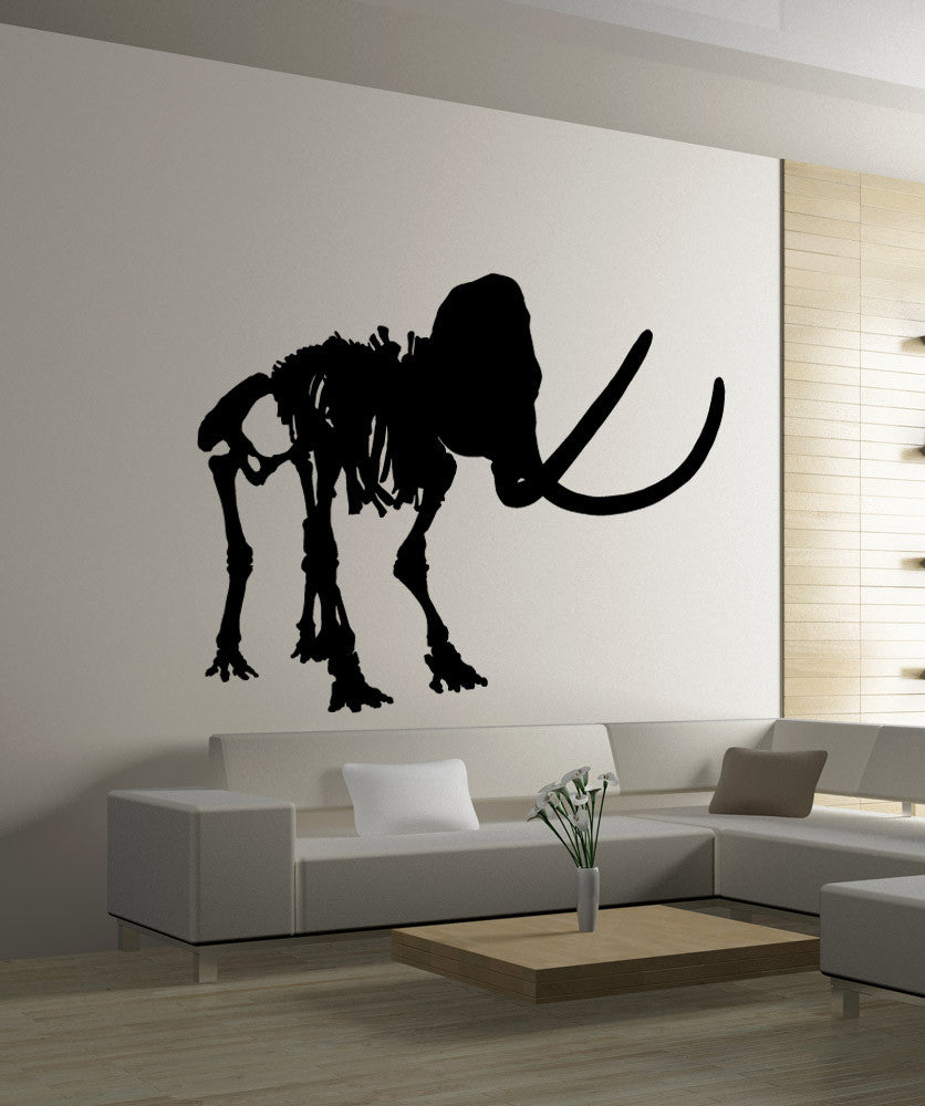 Vinyl Wall Decal Sticker Mammoth Silhouette #OS_MB977