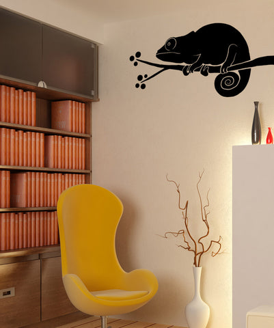 Vinyl Wall Decal Sticker Chameleon in a Tree #OS_MB979