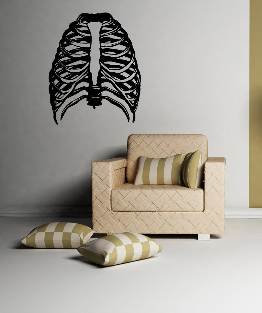 Vinyl Wall Decal Sticker Rib Cage #OS_MB987