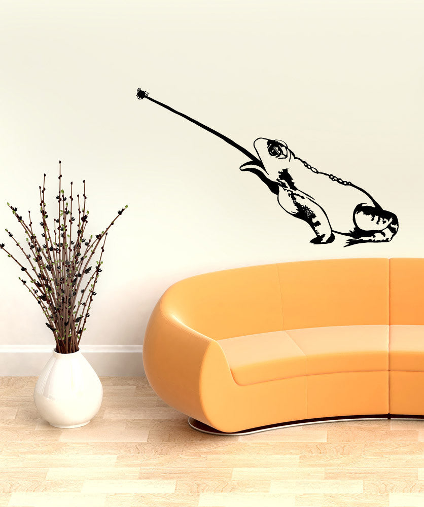 Vinyl Wall Decal Sticker Toad Catching Fly #OS_MB993