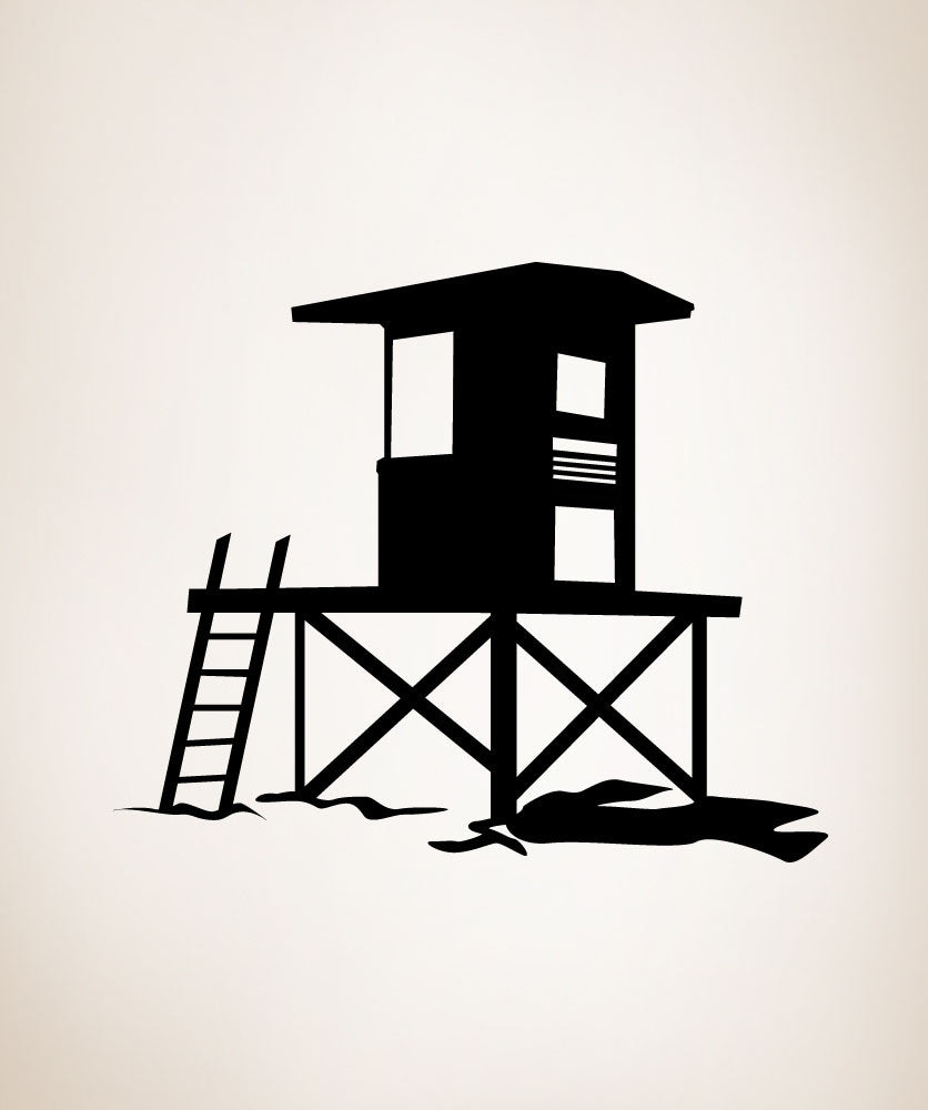 Vinyl Wall Decal Sticker Beach Lifeguard Station #OS_MG256