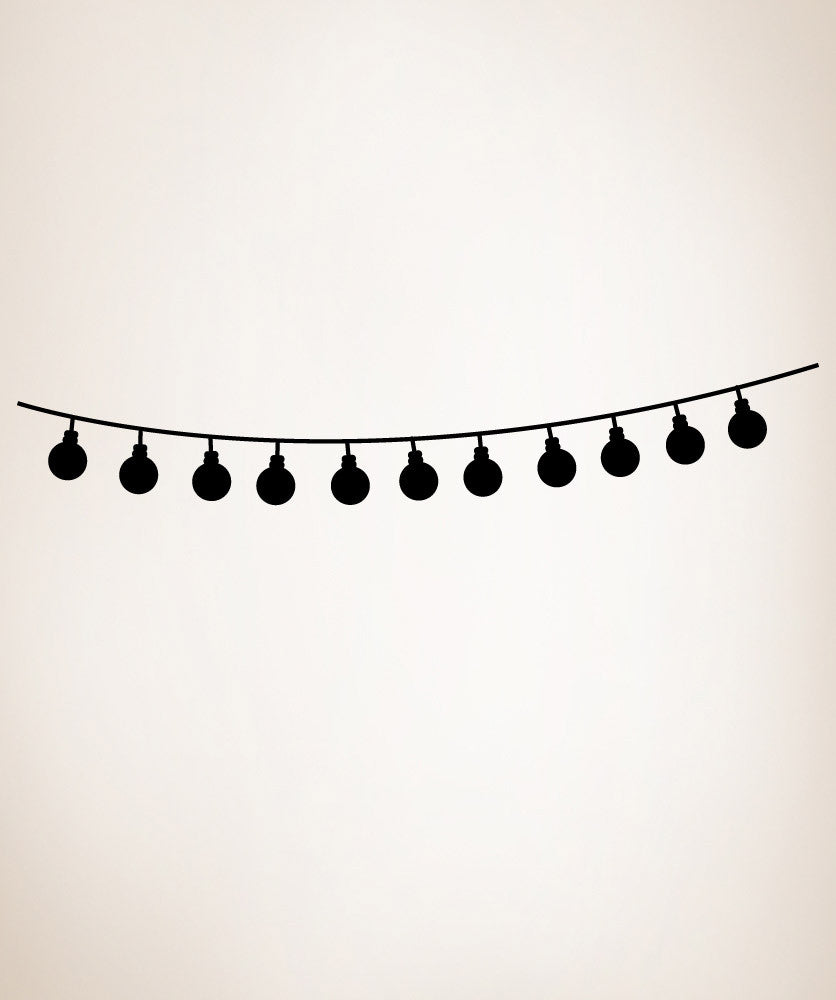 Vinyl Wall Decal Sticker String of Lights #OS_MG284