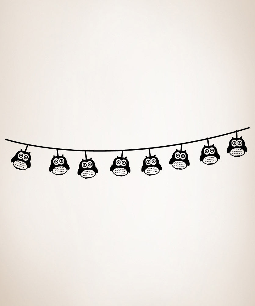 Vinyl Wall Decal Sticker String of Owl Lights #OS_MG300
