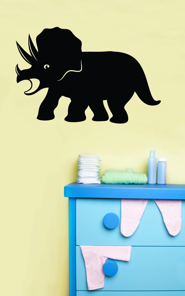 Vinyl Wall Decal Sticker Baby Triceratops #OS_MB359