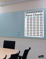 Piano Chord Chart Poster. Educational Handy Guide Chart Print for keyboard music lessons. #P1001