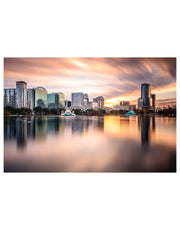Downtown Orlando Florida Lake Eola Poster #P1010
