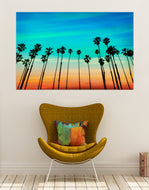 California SoCal L.A. Tropical Sunset Palm Trees Glossy Photo Print. #P1020