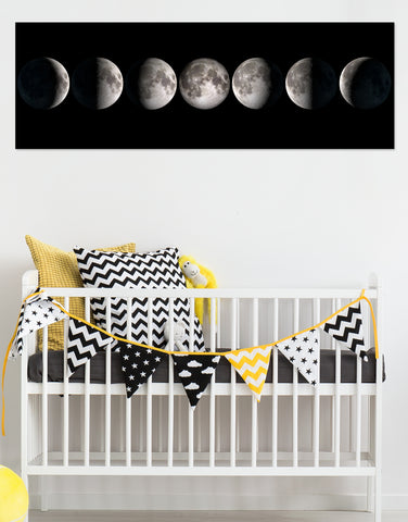 Views of our Moon's Phases in the night sky Glossy Photo Print #P1021