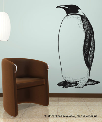 Penguin Wall Decal. #AEdel132