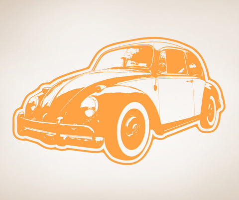Vinyl Wall Decal Sticker 70's VW Beetle #OS_AA158