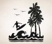 Vinyl Wall Decal Sticker Surfing Paradise #OS_AA269
