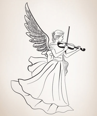 Vinyl Wall Decal Sticker Musical Angel #OS_DC224